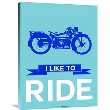 Naxart 'I Like to Ride 7' Graphic Art Print on Canvas; 40'' H x 30'' W x 1.5'' D