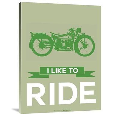 Naxart 'I Like to Ride 8' Graphic Art Print on Canvas; 40'' H x 30'' W x 1.5'' D