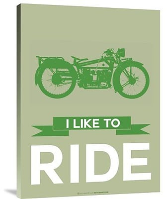 Naxart 'I Like to Ride 8' Graphic Art Print on Canvas; 16'' H x 12'' W x 1.5'' D