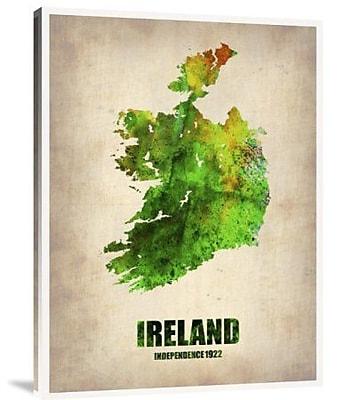 Naxart 'Ireland Watercolor Map' Graphic Art Print on Canvas; 40'' H x 30'' W x 1.5'' D