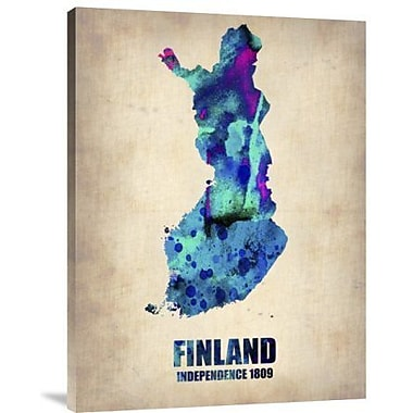 Naxart 'Finland Watercolor' Graphic Art Print on Canvas; 24'' H x 18'' W x 1.5'' D