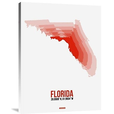 Naxart 'Florida Radiant Map 1' Graphic Art Print on Canvas; 32'' H x 24'' W x 1.5'' D