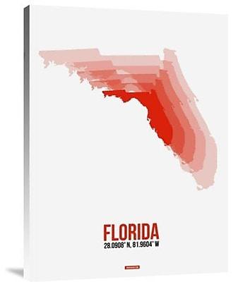Naxart 'Florida Radiant Map 1' Graphic Art Print on Canvas; 24'' H x 18'' W x 1.5'' D