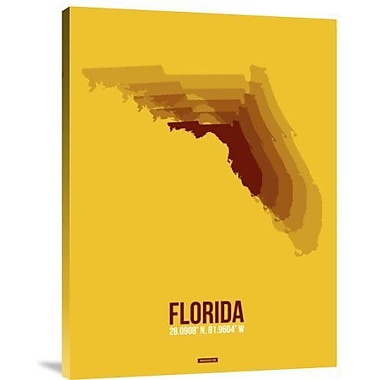 Naxart 'Florida Radiant Map 3' Graphic Art Print on Canvas; 32'' H x 24'' W x 1.5'' D