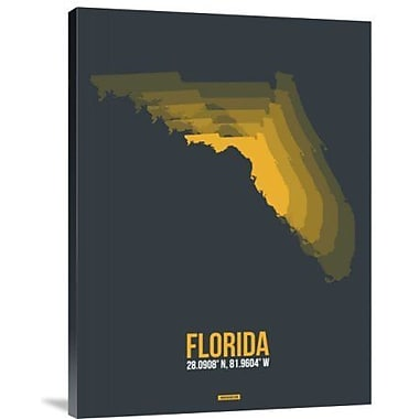 Naxart 'Florida Radiant Map 4' Graphic Art Print on Canvas; 40'' H x 30'' W x 1.5'' D