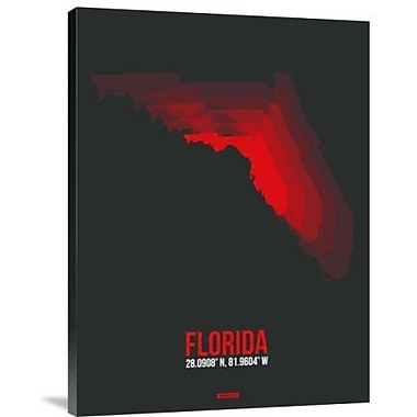 Naxart 'Florida Radiant Map 5' Graphic Art Print on Canvas; 32'' H x 24'' W x 1.5'' D
