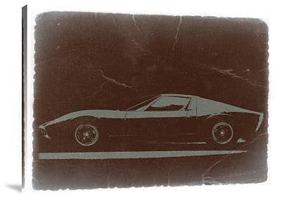 Naxart 'Lamborghini Miura' Graphic Art Print on Canvas; 30'' H x 40'' W x 1.5'' D