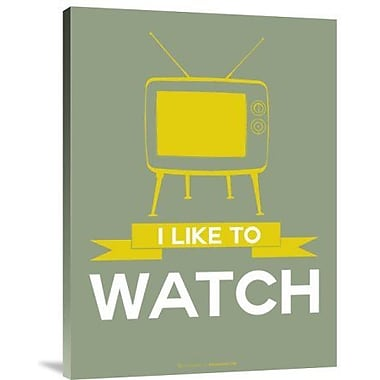 Naxart 'I Like to Watch 1' Graphic Art Print on Canvas; 16'' H x 12'' W x 1.5'' D