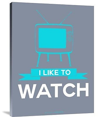 Naxart 'I Like to Watch 3' Graphic Art Print on Canvas; 24'' H x 18'' W x 1.5'' D