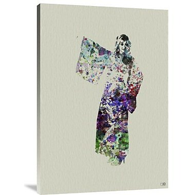 Naxart 'Kimono Dancer 6' Graphic Art Print on Canvas; 36'' H x 25'' W x 1.5'' D