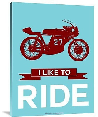 Naxart 'I Like to Ride 10' Graphic Art Print on Canvas; 16'' H x 12'' W x 1.5'' D