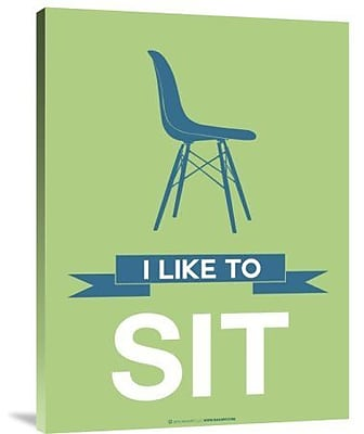 Naxart 'I Like to Sit 1' Graphic Art Print on Canvas; 16'' H x 12'' W x 1.5'' D