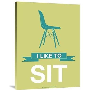 Naxart 'I Like to Sit 2' Graphic Art Print on Canvas; 24'' H x 18'' W x 1.5'' D