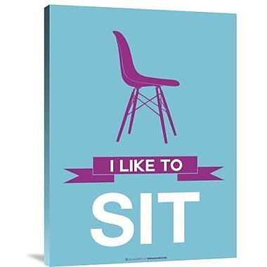 Naxart 'I Like to Sit 3' Graphic Art Print on Canvas; 16'' H x 12'' W x 1.5'' D