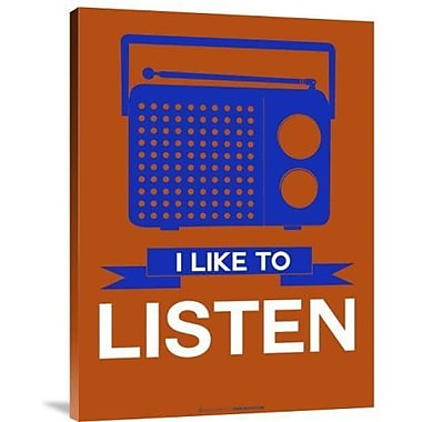 Naxart 'I Like to Listen 1' Graphic Art Print on Canvas; 16'' H x 12'' W x 1.5'' D