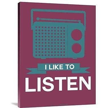 Naxart 'I Like to Listen 3' Graphic Art Print on Canvas; 16'' H x 12'' W x 1.5'' D