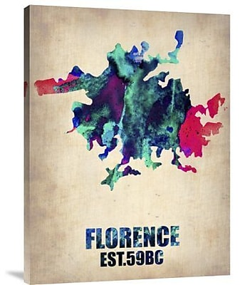 Naxart 'Florence Watercolor' Graphic Art Print on Canvas; 24'' H x 18'' W x 1.5'' D