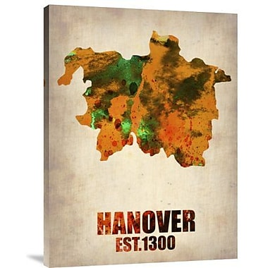 Naxart 'Hanover Watercolor' Graphic Art Print on Canvas; 24'' H x 18'' W x 1.5'' D