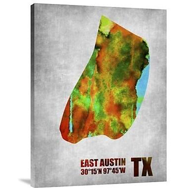 Naxart 'East Austin Texas' Graphic Art Print on Canvas; 32'' H x 24'' W x 1.5'' D