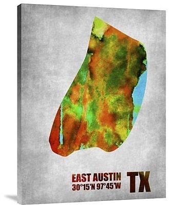 Naxart 'East Austin Texas' Graphic Art Print on Canvas; 40'' H x 30'' W x 1.5'' D
