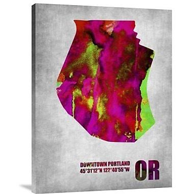 Naxart 'Downtown Portland Oregon' Graphic Art Print on Canvas; 32'' H x 24'' W x 1.5'' D