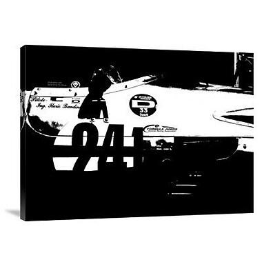 Naxart 'Laguna Seca Racing Cars 2' Graphic Art Print on Canvas; 18'' H x 24'' W x 1.5'' D