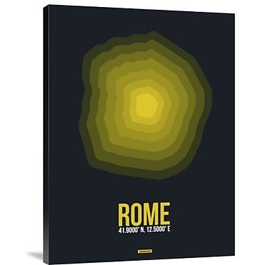 Naxart 'Rome Radiant Map 4' Graphic Art Print on Canvas; 40'' H x 30'' W x 1.5'' D