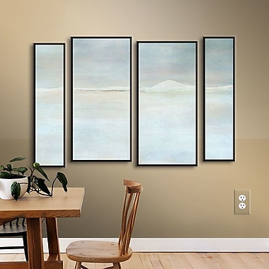 Brayden Studio Landscape Snow 4 Piece Framed Painting Print on Wrapped Canvas Set