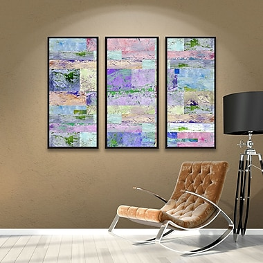 Brayden Studio Abstract I 3 Piece Framed Painting Print on Canvas Set; 36'' H x 54'' W x 2'' D