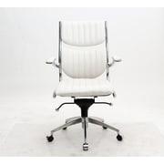 Brayden Studio High-Back Executive Chair; White