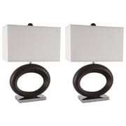 Brayden Studio Griffis 24'' Table Lamp Set (Set of 2)