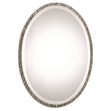 Brayden Studio Oval Polished Nickel Wall Mirror
