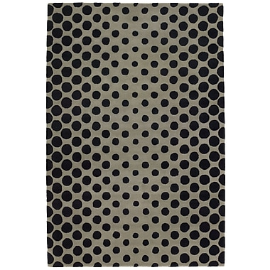 Brayden Studio Phair Black/Sage Area Rug; 5' x 7'6''