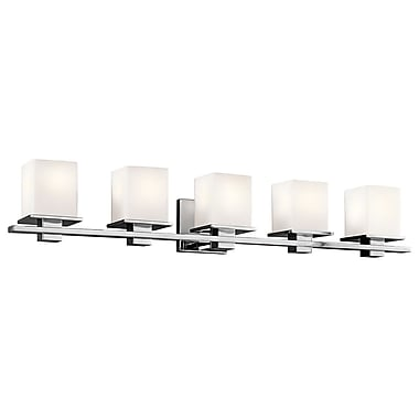 Brayden Studio North Stoke 5-Light Vanity Light; Chrome