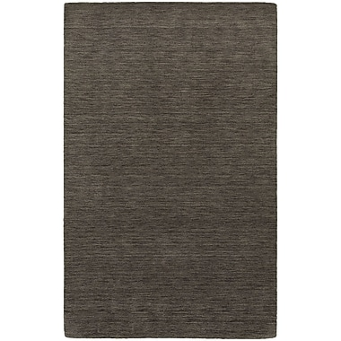 Brayden Studio Barrientos Hand-Woven Heathered Charcoal Area Rug; 10' x 13'