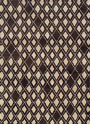 Brayden Studio Feltner Brown/Ivory Area Rug; Runner 2'7'' x 10'