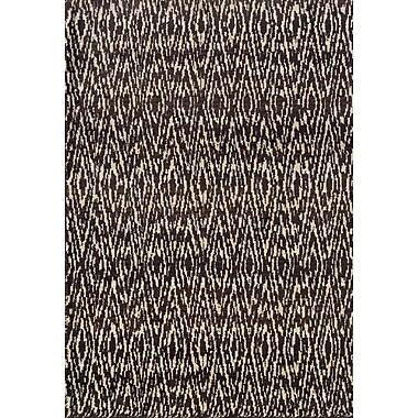 Brayden Studio Feltner Ivory/Gray Area Rug; 4' x 5'9''