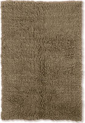 Charlton Home Flokati Hand-Woven Mushroom Area Rug; 5' x 8'