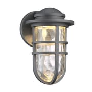 dweLED Steampunk 1-Light LED Outdoor Bulkhead Light; Graphite