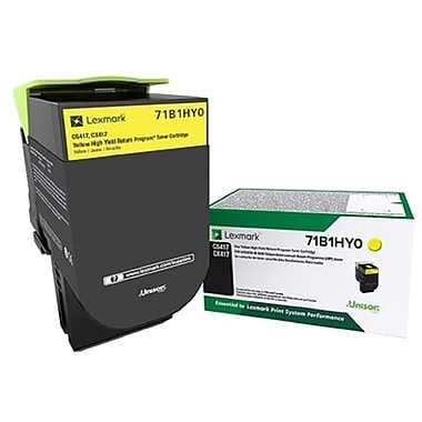 Lexmark CS/X417/517 Yellow High Yield Return Program Toner Cartridge (71B1HY0)