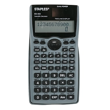 Staples BD-950 10-Digit Scientific Calculator