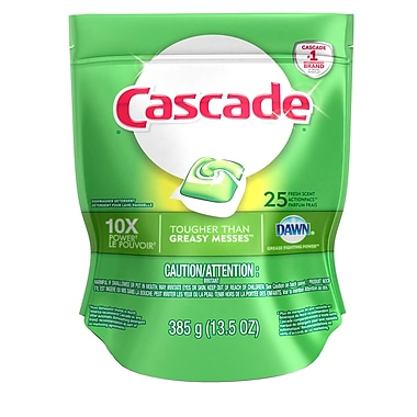 Cascade Dishwasher Detergent, 2-in-1 Action Pacs