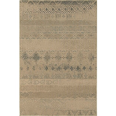 Loon Peak Bixby Tan/Blue Area Rug; 5'3'' x 7'6''