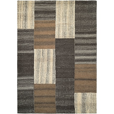 Loon Peak Lynn Luster Hand-Woven Brown Area Rug; 8' x 11'