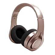 Billboard Bluetooth Wireless Folding Headphones With Enhanced Bass, Controls, and Microphone - Rose Gold