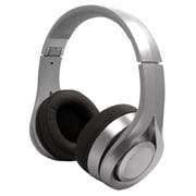 Billboard Bluetooth Wireless Folding Headphones With Enhanced Bass, Controls, and Microphone - Silver