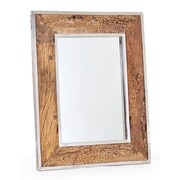 Loon Peak Polished Nickel Wood and Glass Mirror