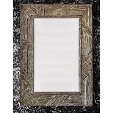 Loon Peak Mahogany Wood Mirror