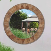 Loon Peak Recycled Fir Wood Wide Border Wall Mirror