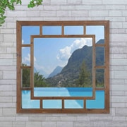 Loon Peak Craftsman Recycled Fir Wood Wall Mirror